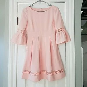 Eliza J Pink Bell Sleeve Dress With Cutouts 2P